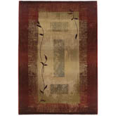 Oriental Weavers Generations 544X1 Red and Beige